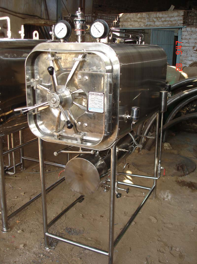 horizontal high pressure stema sterilizer